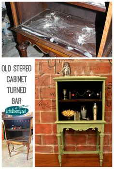 ART IS BEAUTY: Old strereo Cabinet turend Vintage Bar