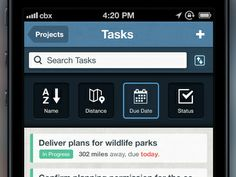 Dribbble - ManagePlaces: Tasks - Sort Order by Callum Chapman