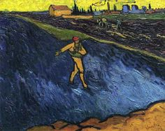 artist-vangogh: The Sower Outskirts of Arles in the Background...