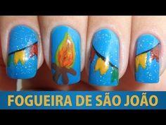 Unhas Decoradas - Fogueira de São João - YouTube