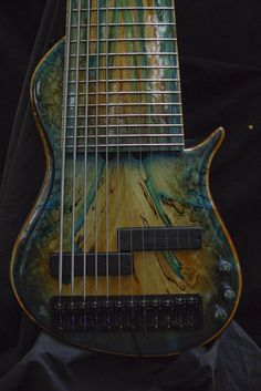 Something you don't see too often. A Brubaker 12 string bass guitar.