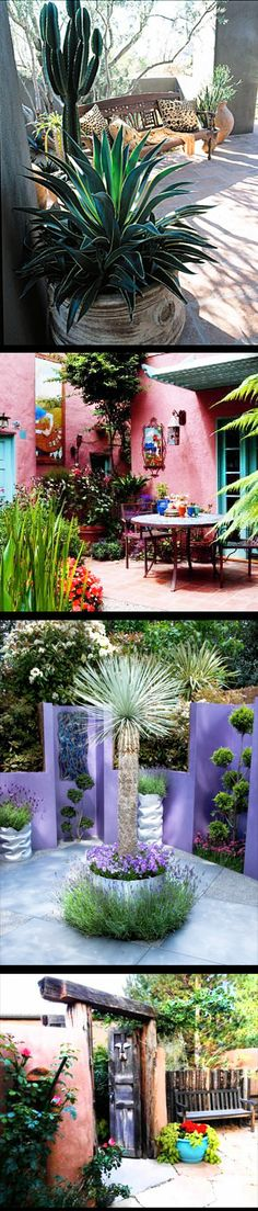 Outdoor spaces.. Ideas for Hacienda Southwest Decorating