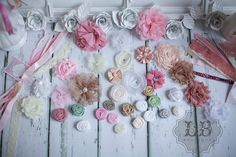 Shabby Chic Headband Kit  - DIY Headbands, Baby Shower or Birthday Party (10 Count) MORE counts at www.lb-boutique.com on Etsy, $47.00