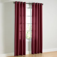 Faux-Silk Grommet Panel | Curtains & Drapes | Brylanehome