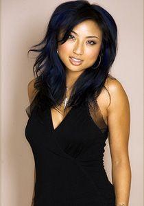 Blue highlights i love the blue/black color with the blue contrast--Lisa Dark Hair, Blue Hair, Curly Hair Styles, Natural Hair Styles, Jeannie Mai, Blue Black Color, Blue Highlights, Hair Color And Cut, Hair Dos