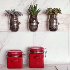 New diy kitchen decorations craft projects mason jars 19 Ideas Pot Mason Diy, Mason Jar Crafts, Pots Mason, Pickle Jar Crafts, Mason Jar Shelf, Mason Jar Herbs, Mason Jar Herb Garden, Mason Jar Planter, Mason Jar Storage