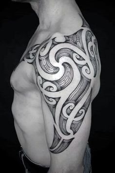 Promote masculine power with a Polynesian arm tattoo. These tribal tattoos represent some of the most ancient arm decoration traditions in the world.With its rich legacy, the piece has deep meaning no matter what body modification design you choose. #nextluxury #tattooideas #tattoodesigns