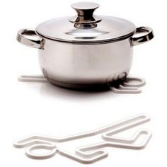 Peleg Design Crime Scene Hot Pot Silicone Trivet Hotpot Pan Holder PE728 (White) -- Be sure to check out this awesome product. (This is an affiliate link) #KitchenTableLinens