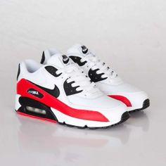 Nike Air Max 90 GS White/Black/Light Crimson/Neutral Grey
