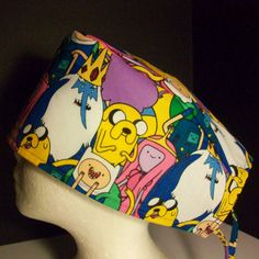 Surgical hat scrub hat chemo hat tie back 279 by NinsThisandThat