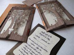 Elegant Collection of Rustic Tree Wedding Invitations ...
