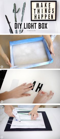 DIY LED LIGHT BOX HACK \ EASY Project
