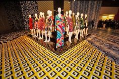 """""""The wrap dress is the one thing that I owe everything to,"""" a glowing Diane von Furstenberg tells us at the opening of her new exhibit inside LA's historic May Company Building. Photos by Elizabeth..."""