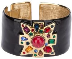 ShopStyle: Kenneth Jay Lane Archive Jewelled cuff