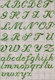Corner of Thaii: Monograms Cross Stitch Letter Patterns, Cross Stitch Letters, Cross Stitch Art, Cross Stitching, Cross Stitch Embroidery, Stitch Patterns, Plastic Canvas Letters, Needlepoint Stitches, Hand Embroidery Patterns