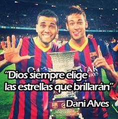 Dani Alves y Neymar