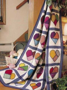 hearts #crochet quilt pattern