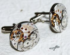 LONGINES Men Steampunk Cufflinks. Available at TimeInFantasy. $135.00