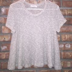 Sweater swing tee Cream tee in knit sweater like material. NWOT. Never worn. Lush Tops Tees - Short Sleeve