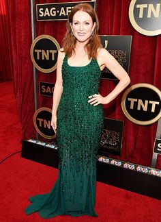 Julianne Moore Stuns in Givenchy at the SAG Awards  #InStyle  She looked fabulous!!