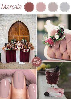 unique pantone marsala and mauve fall wedding colors 2015 trends #pantonecolorsfall2015