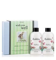 Philosophy Wish You Well, 16 Ounces. Moisturizing formulas leave skin and hair silky soft. Rejuvenates the senses and inspires well-being. Wish someone well with be somebody. the set features be somebody water lily shampoo, shower gel & bubble bath 8 oz. and be somebody water lily body lotion 8 oz. to help nurture your skin and your well-being. the bright citrus, clean floral scent of water lily rejuvenates the senses as it delicately scents the skin for a light veil of fragrance.