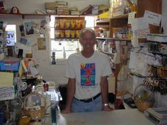 Vernon Malone at Vernon's grocery in Hope Town, Elbow Cay, Abaco