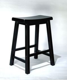 "Powell Antique Black with Sand Through Terra Cotta Counter Stool, 24"" Seat Height"