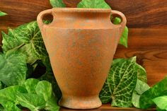 Burley Winter Pottery Gray over Pumpkin Orange Vellum Vase Zanesville Ohio, 1920s, Pumpkin, Pottery, Vase, Gray, Orange, Winter, Ceramica