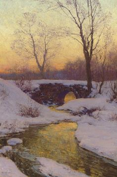 Snow-Bound Brook, Walter Launt Palmer. (1854 - 1932)