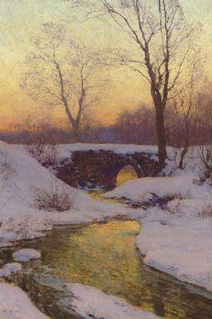 Snow-Bound Brook, Walter Launt Palmer. (1854 - 1932)