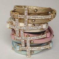 Crystal Cross Wrap Bracelets