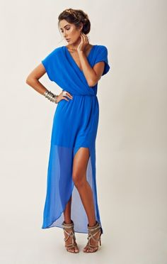 This beautiful blue dress would be perfect for the formal concert we're attending at the end of this month! shopplanetblue.com