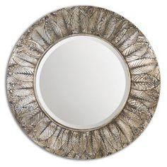 Vermundo Walnut Mirror Uttermost Round Mirrors Home Decor