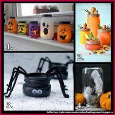 Dollar Store Crafter: 4 Halloween Themed Mason Jars Crafts