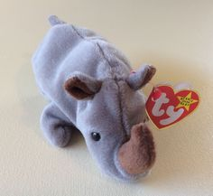 TY BEANIE BABIES Rhino SPIKE Stuffed Animals Collectible Toys Kids Gift Home #Ty
