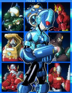 This is not the Mega Man I know... but this really looks cool!  Mega Man Select by Asylum Comics