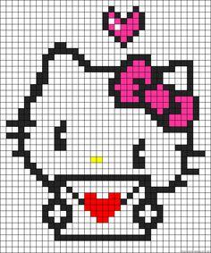 Hello Kitty alpha bracelet pattern