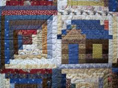 cabin Quilting Patterns | Log Cabin by Judy Martin. Pattern is in Judy Martin's Log Cabin Quilt ...