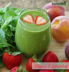 Almond-Peach-Strawberry Green Smoothie Recipe with Chia Seeds - Incredible Smoothies Check out the website to see Peach Smoothie Recipes, Apple Smoothies, Yummy Smoothies, Spinach Smoothies, Best Green Smoothie, Strawberry Smoothie, Juice Smoothie, Green Smoothies, Clean Smoothie