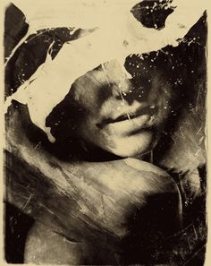 Combining photography and painting, Polish-based artist Michał Mozolewski creates intriguing portraits of mysterious-looking subjects. Street Art, Black And White Abstract, Illustrations, Abstract Photography, Photomontage, Painting Inspiration, Art Inspo, Digital Illustration, Wearable Art