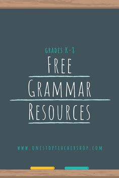A collection of FREE Grammar Resources for teachers! These printable and digital Grammar Practice activities are perfect for daily review, language arts centers, distance learning, homework, morning work, and more! Be sure to download them all! Available for 1st Grade, 2nd, 3rd, 4th, 5th, 6th, 7th, and 8th. Grammar Games, Grammar Practice, Grammar Activities, Teaching Grammar, Grammar Review, Teaching 5th Grade, Middle School Teachers, Word Study, Morning Work