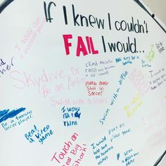 """Having students write what they would do if they """"knew they wouldn't fail"""" helps them identify potential goals. This activity would be a great opener at the beginning of the year not only to get to know the students, but also is a great introduction to a discussion on class, life, and fun goals; as well as coming up with ideas to prevent failure."""