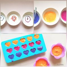 Make soap for children yourself - DIY with food colors and coconut oil - Make soap for children yourself – DIY with food colors and coconut oil - Diy Gifts For Mom, Diy Crafts For Kids, Best Breakfast Casserole, Kids Spa, Coffee Cookies, Food Coloring, String Art, Soap Making, Diy Beauty