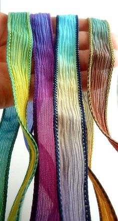 Hand Dyed Silk Ribbon Jewelry Supplies by MAKUstudio on Etsy, $7.00
