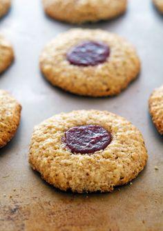 Almond-Walnut Thumbprint Macaroons