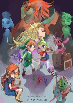 The Legend of Zelda: Wind Waker. By far my favorite one, cannot WAIT for the wii u version!!!