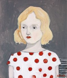 Samantha by Amanda Blake (contemporary), American - Her paintings use symbolism and the imagery of superstitions to explore the idea of fate and the search for meaning in the the world around us (amandablake)