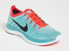 "Turquoise ""Flyknit Lunar1+"" Nike Running Shoe"