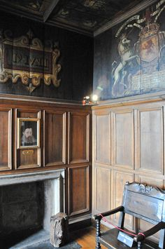 The room which Mary, Queen of Scots gave birth to the future King James VI in the Royal Palace at Edinburgh Castle, Scotland.